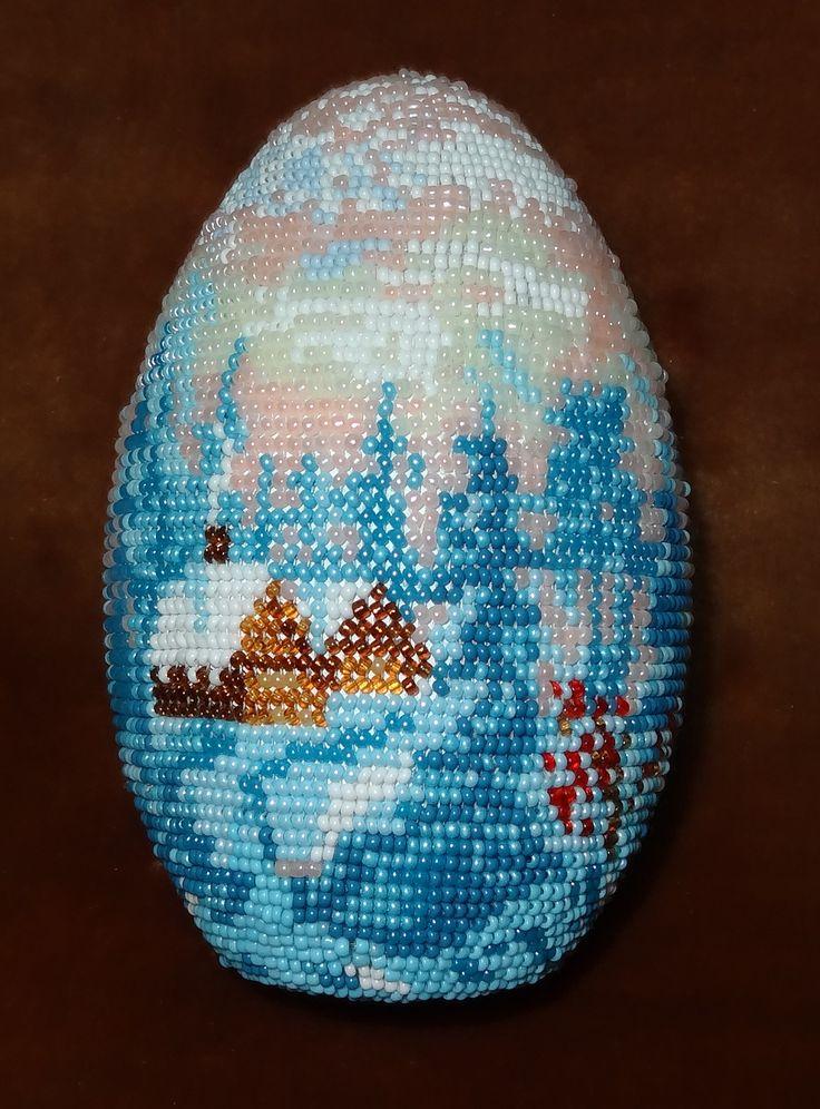 Easter Eggs, Bead, Зимнее Утро