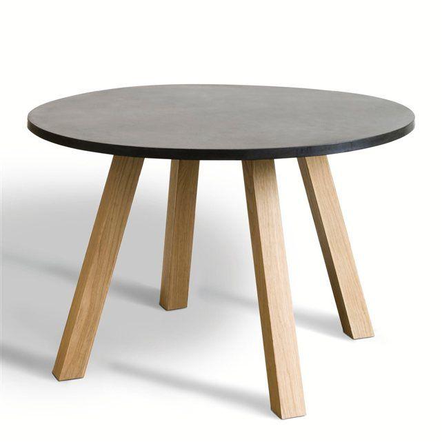 Table ronde Jacob, piètement réversible AM.PM   La Redoute Mobile