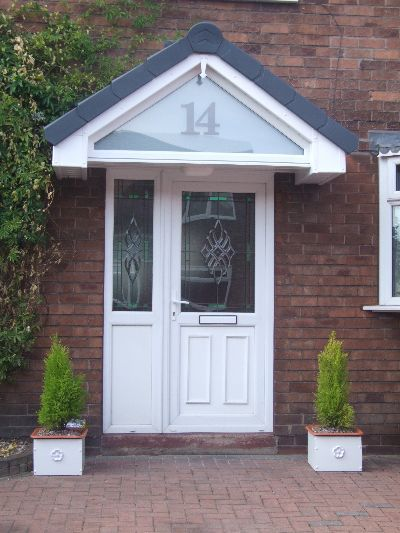 Door canopy from UK with glass front face : overhang doors - pezcame.com