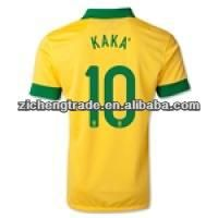 13-14 Brazil football team #10 KAKA Home Yellow jersey Soccer Shirt $4.55~$5.55