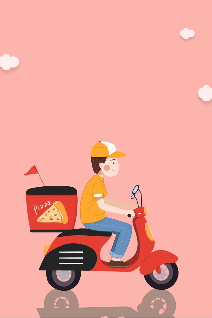 Food delivery poster background material di 2020 desain