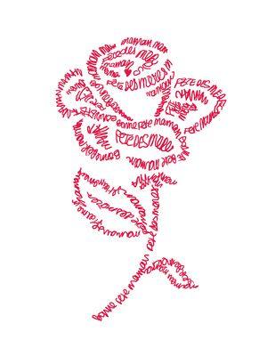 46 best images about calligrammes on pinterest logo design portrait and self portraits - Citation fete des meres ...