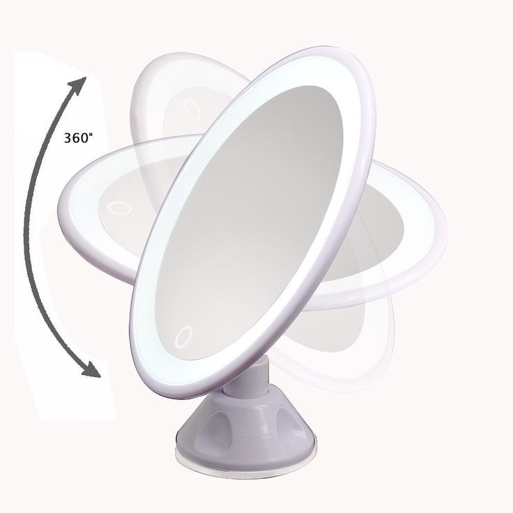 TFCFL 7X Magnifying Lighted Makeup Mirror 360°Rotating LED Cosmetic Vanity Mirror with Lights For Tabletop, Bathroom, Bedroom, Travel, Shaving, Dressing: Amazon.co.uk: Kitchen & Home