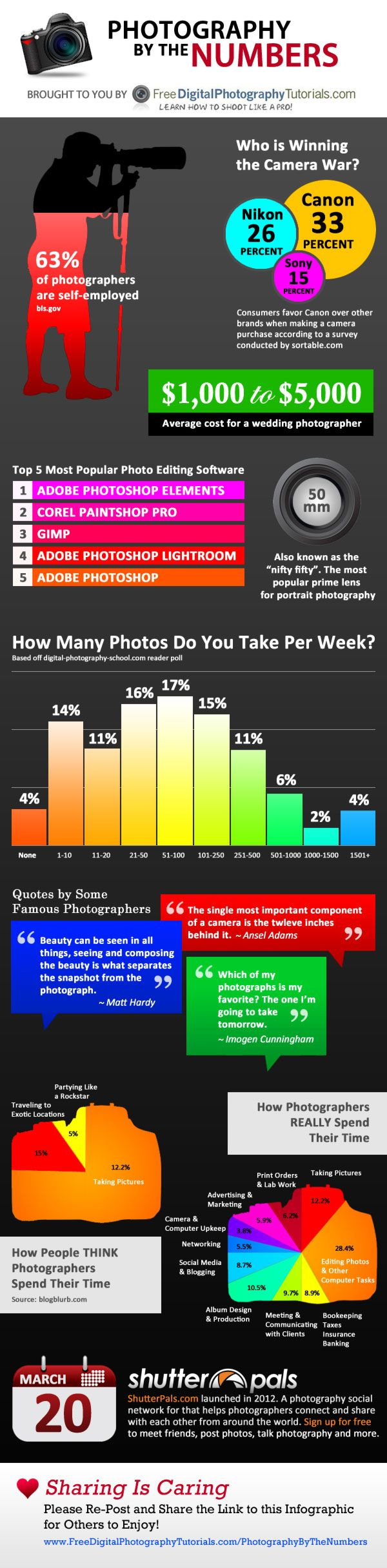 Photography By the Numbers [Infographic]