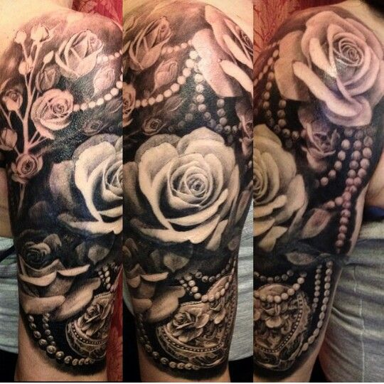 25 unique girly sleeve tattoo ideas on pinterest half for Girly arm sleeve tattoos