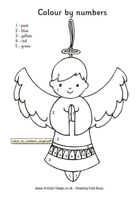 Colour by Number Angel   children\'s quilt, ....Art   Pinterest ...