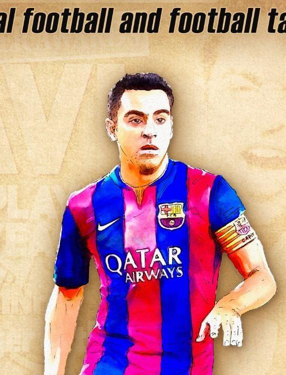 xavi print barcelona xavi quotes poster football art wall decor