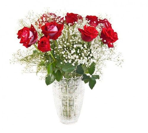 High Fashion So you don't want to go red, but you could be fashionably red with these not quite red roses.  Confused?  We thought the roses were, when you look down they are red, but with latte on the outside.#Anniversary #Bouquets #Flowers #Latest Products #Roses.http://bit.ly/1Vqyyan