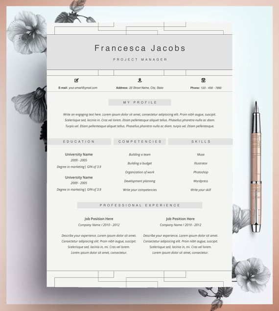 106 best CV images on Pinterest | Resume design, Resume templates ...