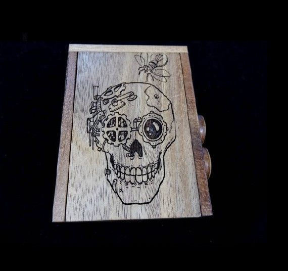 Overtime Puzzle Box - Skull Model - Challenging Puzzle Box for Escape Rooms