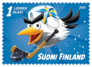 The Official stamp of the ice hockey world championship 2012 tournament