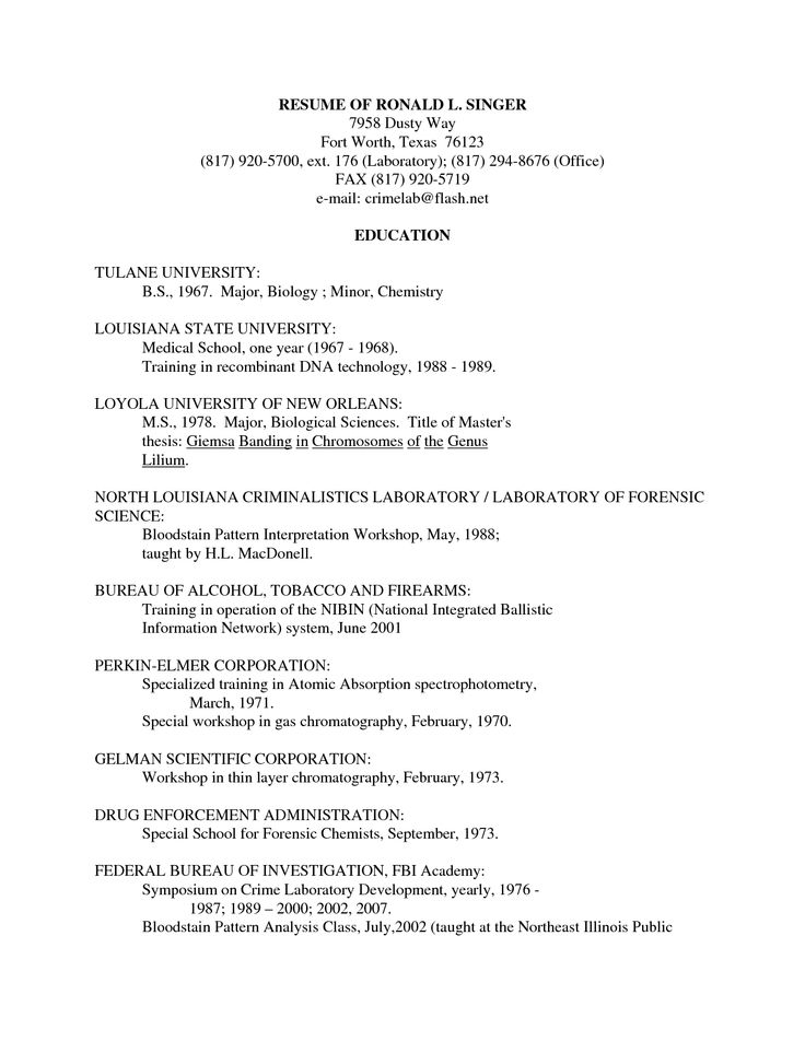 Entomology Scientist Resume - http\/\/wwwresumecareerinfo - forensic analyst sample resume
