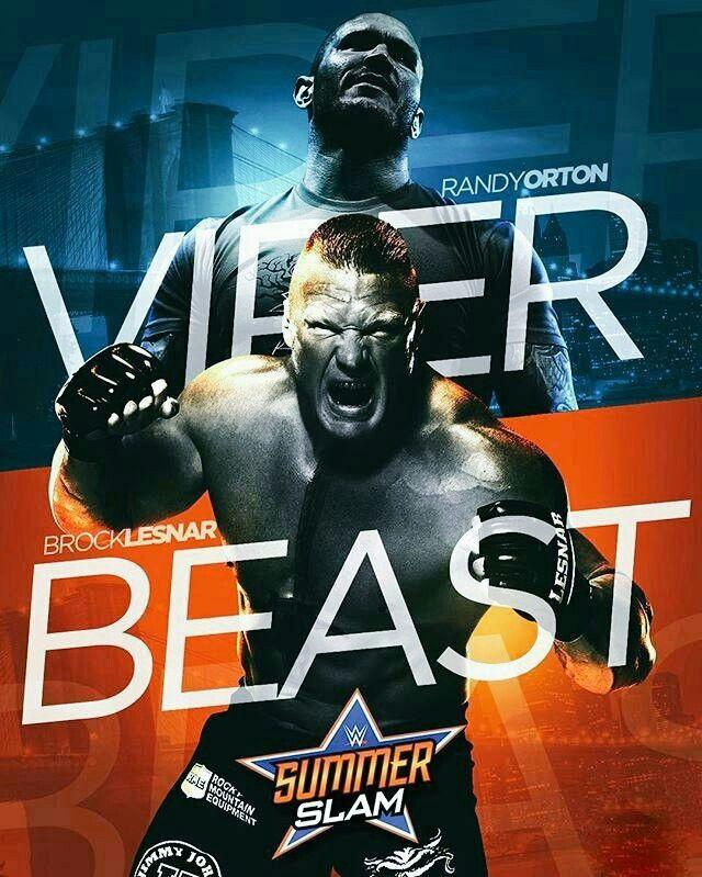 The Viper Randy Orton vs The Beast Brock Lesnar