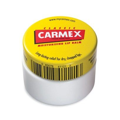 Carmex] smells terrible but really does help chapped lips.... will be buying again
