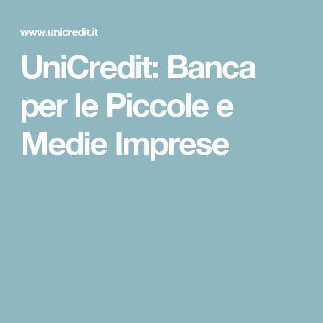 UniCredit: Banca per le Piccole e Medie Imprese
