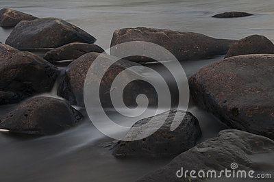 The rocks of the river Iesjokka.