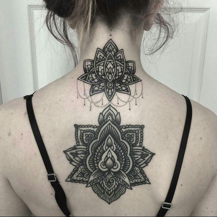 Tattoo done by: Mark Jelliman #mandala #mandalas #mandalatattoo