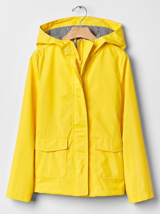 Gap Kids Rain Jacket in Aurora Yellow
