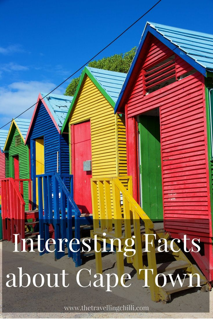 Interesting facts about Cape Town in South Africa - Discover things that most people don't know about Cape Town - Colourful beach houses in Muizenberg