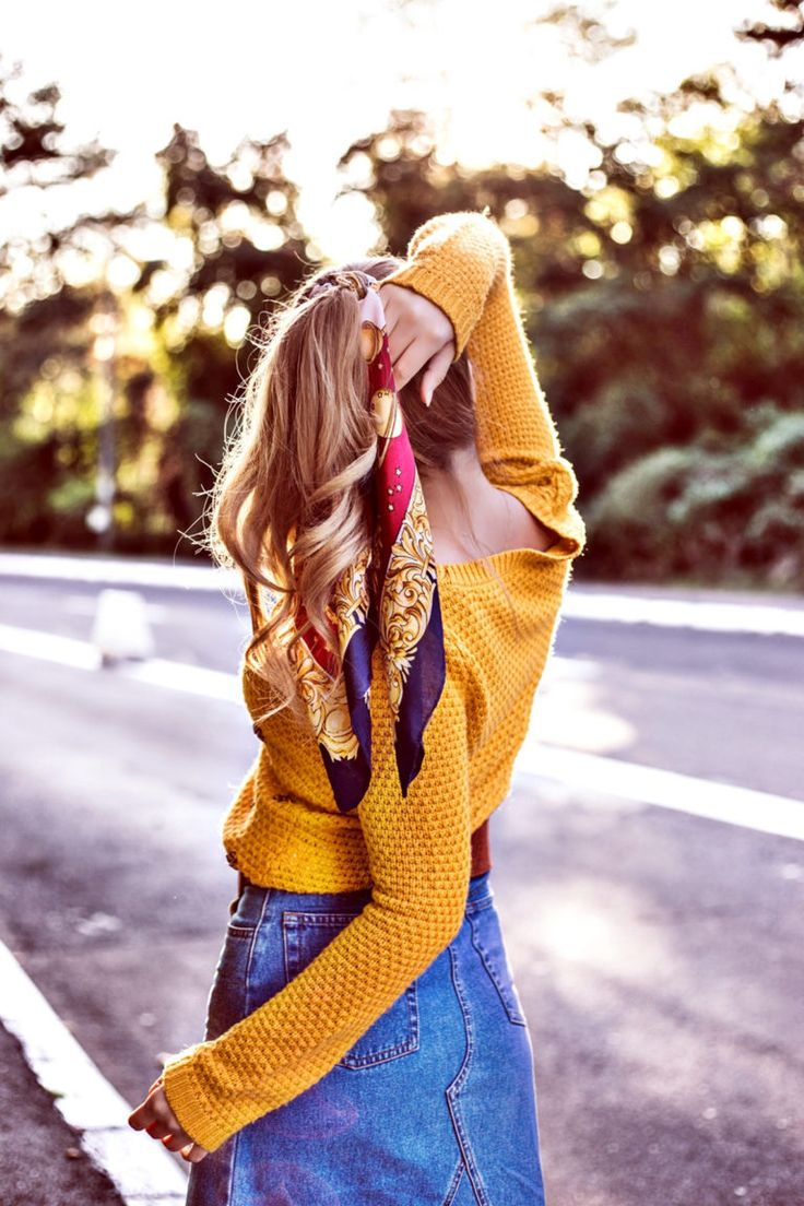 Vintage scarf in my hair