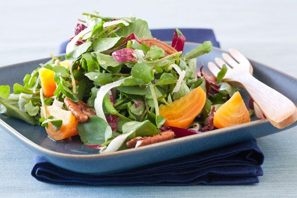 Water Cress Salad, very high source of vitamin c, which is known as a major cancer fighter!
