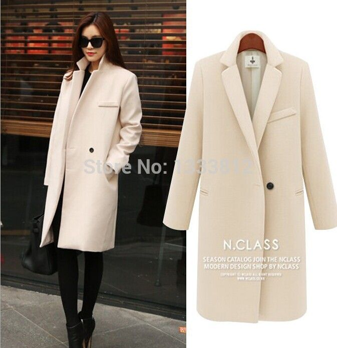 Cheap coat wall, Buy Quality fashion mens coat directly from China coat of arms gifts Suppliers: Hot Sale!!! 2014 Spring Autumn Fashion Ladies Long Coat Slim Single Button Solid Woolen Coat