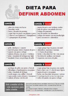 dieta de 6 comidas al dia para definir abdominales