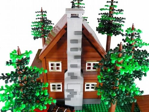 LOG HOUSE: A LEGO® creation by Mauricio Vollu Rosa : MOCpages.com