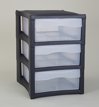 Staxx x 3 Small Drawer. Fits A4 documents. Also available in white