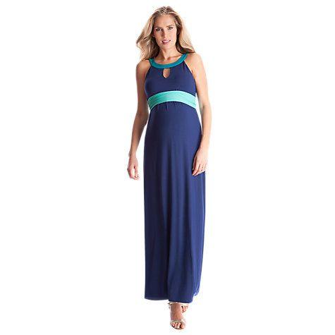 Buy Séraphine Audra Colour Block Maxi Maternity Dress, Blue/Multi Online at johnlewis.com