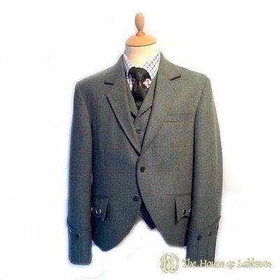 tweed argyle kilt jacket and waistcoat for sale.jpg