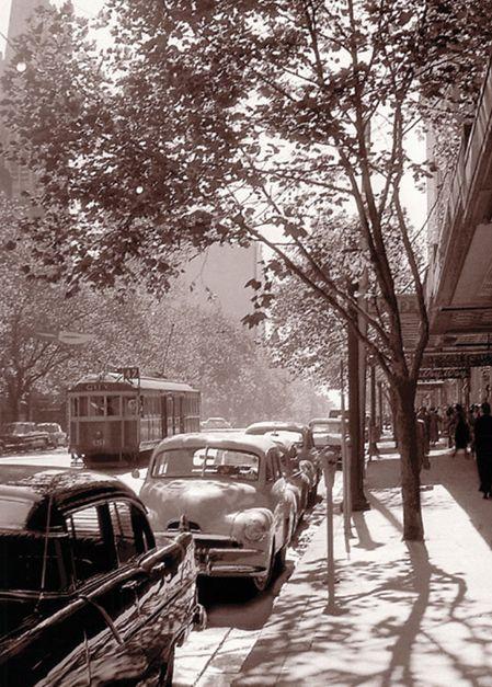 Swanston Street 1958 - Mark Strizic Melbourne Victoria Australia
