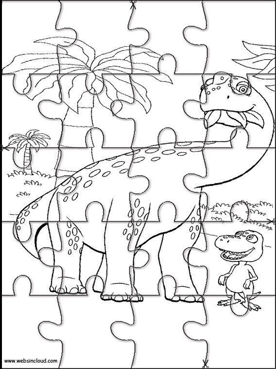 Imprimir Quebra Cabeca O Comboio Dos Dinossauros 3 O Comboio Dos