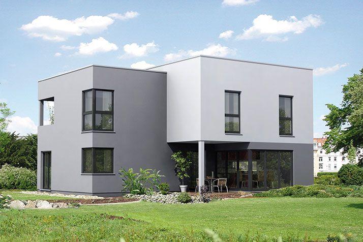 Fertighaus Bauhaus Fertighaus Architektur Trend 100 mit Flachdach