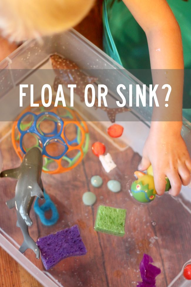 Water Play Experiment: Does it Float or Sink?