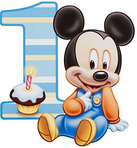 Baby Mickey Mouse One Year 1st Birthday Edible Image Photo 1/4 Quarter Sheet Cake Topper Personalized Custom Customized Birthday Party HGC http://www.amazon.com/dp/B017MQ07GQ/ref=cm_sw_r_pi_dp_cjLVwb1ZHQ3W8