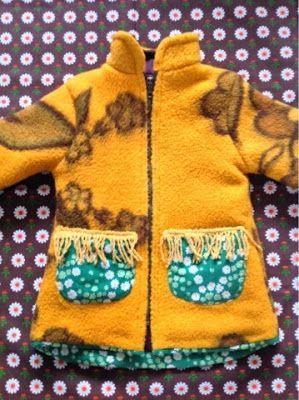 Tutto Riciclabile handmade: vintage blanket kids coat # 2