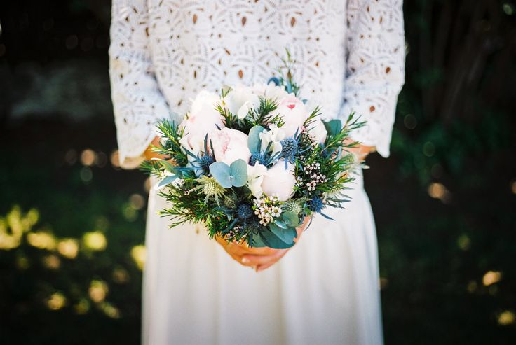 Bouquet mariée Portra 400