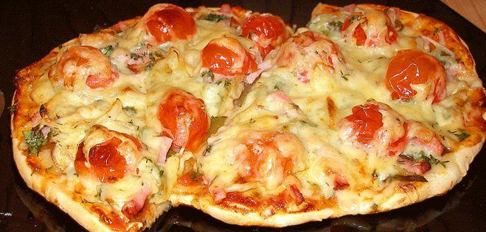 Pideden Pratik Pizza Tarifi