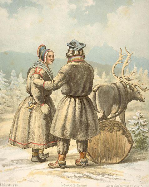 Sami people. Karasjok. Eckersberg. Norges Nationaldragter.jpg