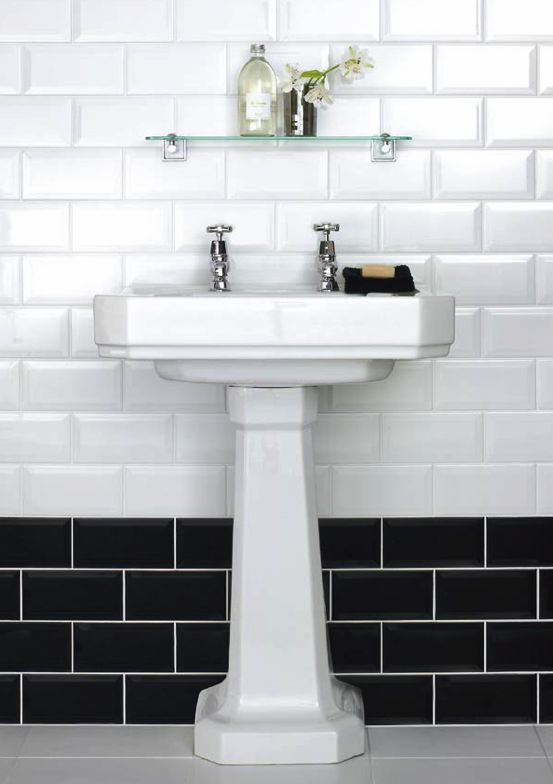 White Tile Bathroom Black 32 best black and white bathrooms images on pinterest | room
