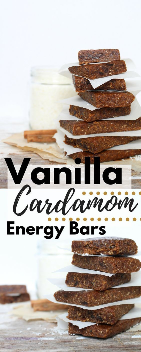 Healthy, vegan energy bars that are quick and easy to make at home using only a blender.  Free of refined sugar and a great source of protein, these make the perfect snack or breakfast!