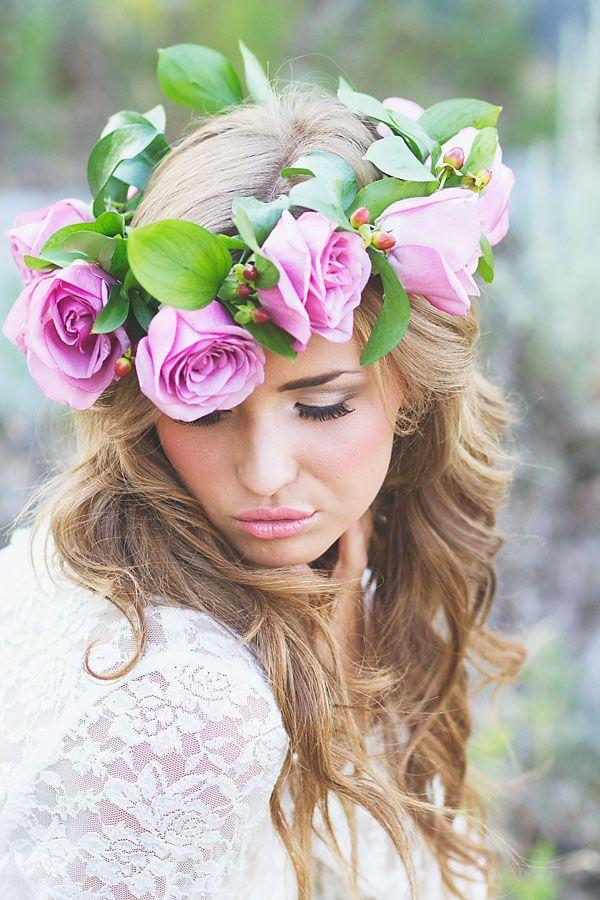 Flowercrown Wedding Hairstyles Flower Halo Floral Crowns