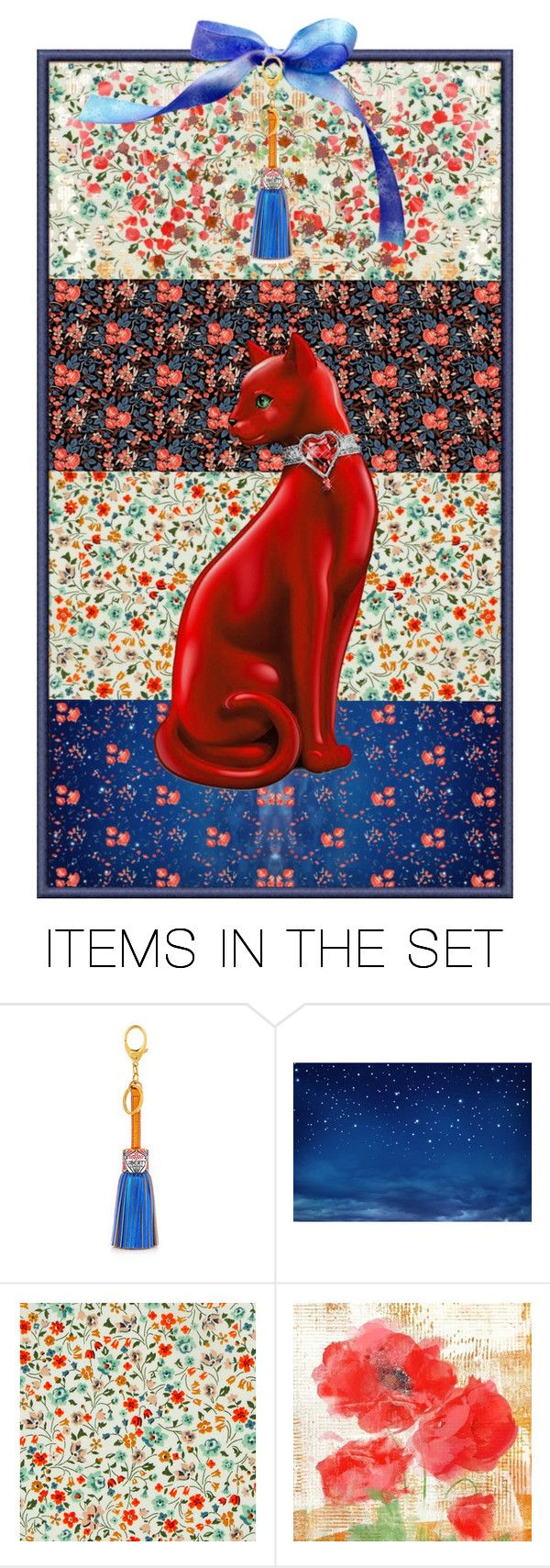 """3475 - Liberty Prints bookmark"" by niwi ❤ liked on Polyvore featuring art"