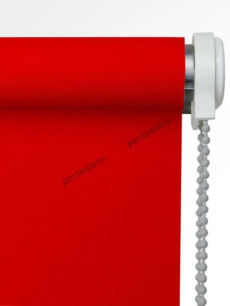 Brillant Mat Polyester Stor Perde (Kırmızı 5205)