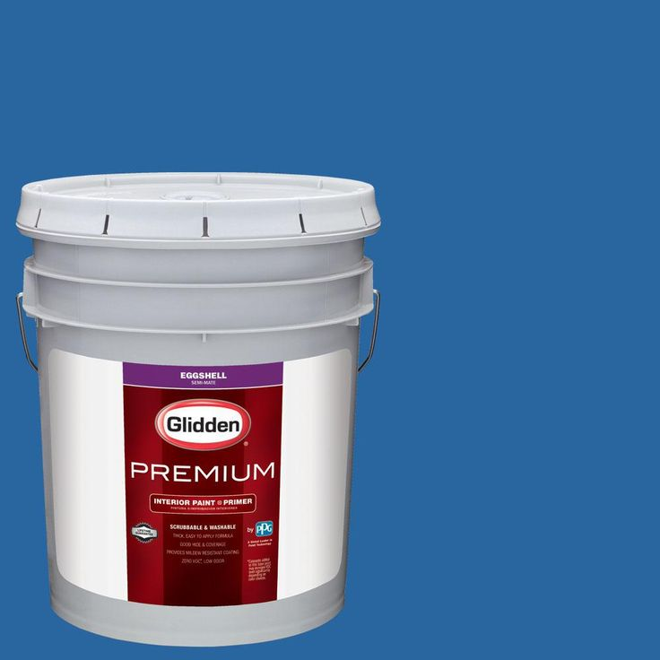 Glidden Premium 5 gal. #nhl-021F New York Rangers Blue Eggshell Interior Paint with Primer