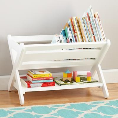 The Land of Nod | Kids Book Bins: White Book Caddy Bin in Bookcases