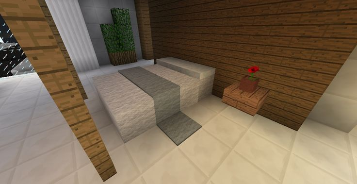 Make a bed out of wool, use slabs for a headboard and use carpet as a blanket throw - Click pic for more ideas.