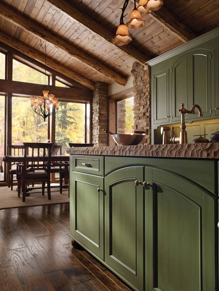 Wood Mode Cabinets Houston Texas 1000 Cabinetry Design Green Kitchen Cabinets Log Cabin Kitchens