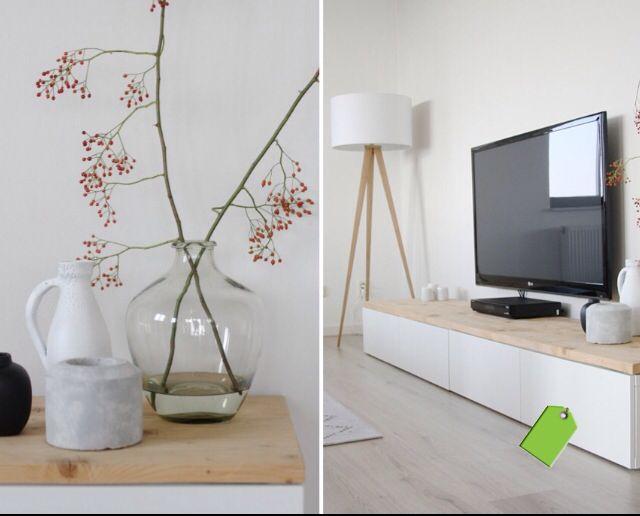 IKEA hack - Besta storage unit with wood to added